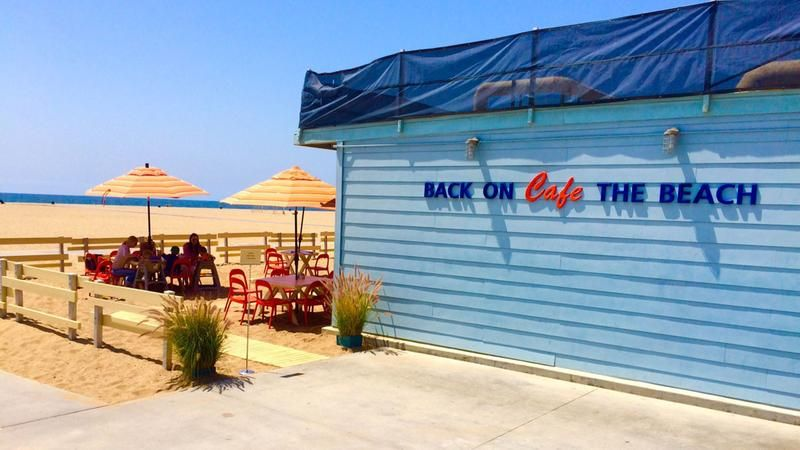 Eye on L.A.'s summer guide 2015.  Back on the Beach Cafe in Santa Monica is ON THE BEACH, on the sand. Can't get much closer!  It is also surprisingly affordable.