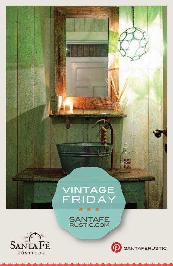 Santa Fe Vintage Bathroom Ideas Galvanized Tub Wash Tub Sink