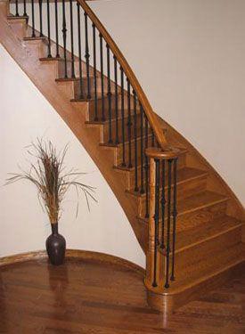 Best Curved Oak Stair Treads Brampton Ontario 400 x 300