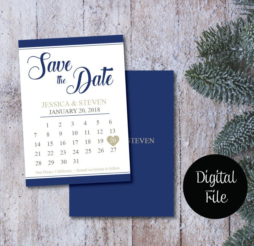 On Sale Printable Save The Date Calendar Postcard Template Download Engagement Announcement Modern W Modern Wedding Save The Dates Save The Date Wedding Saving