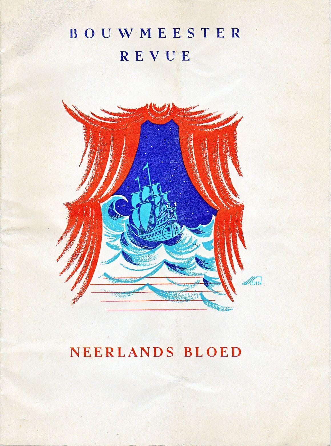1938 - Programmaboekje Bouwmeesterrevue - Neerlands Bloed - illustrator Van Vleuten