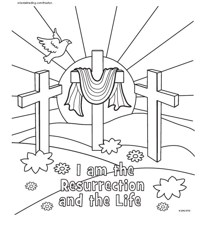coloring page Craft Easter