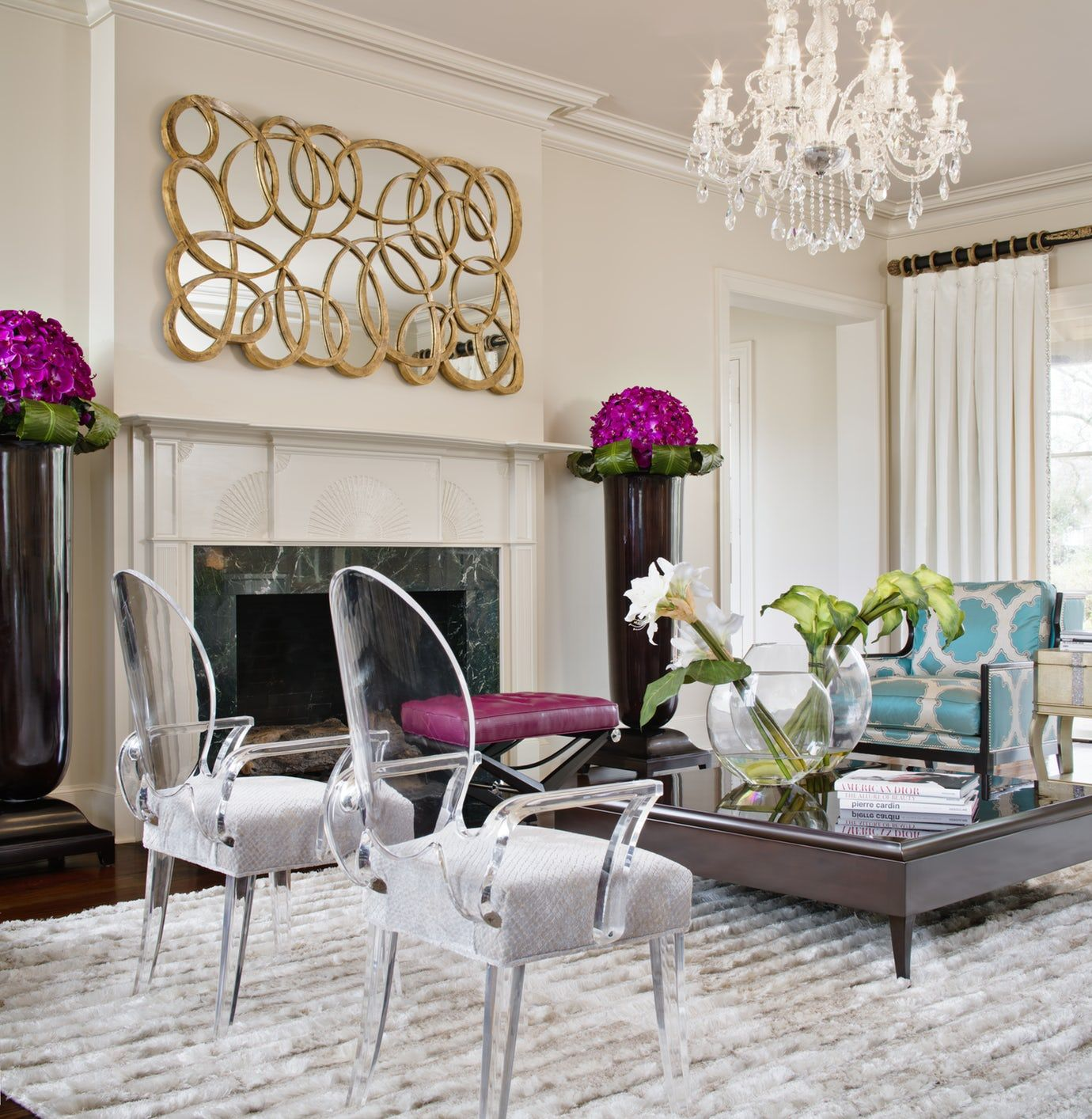 Southern Charm, Living Room Great Room Family Room Design