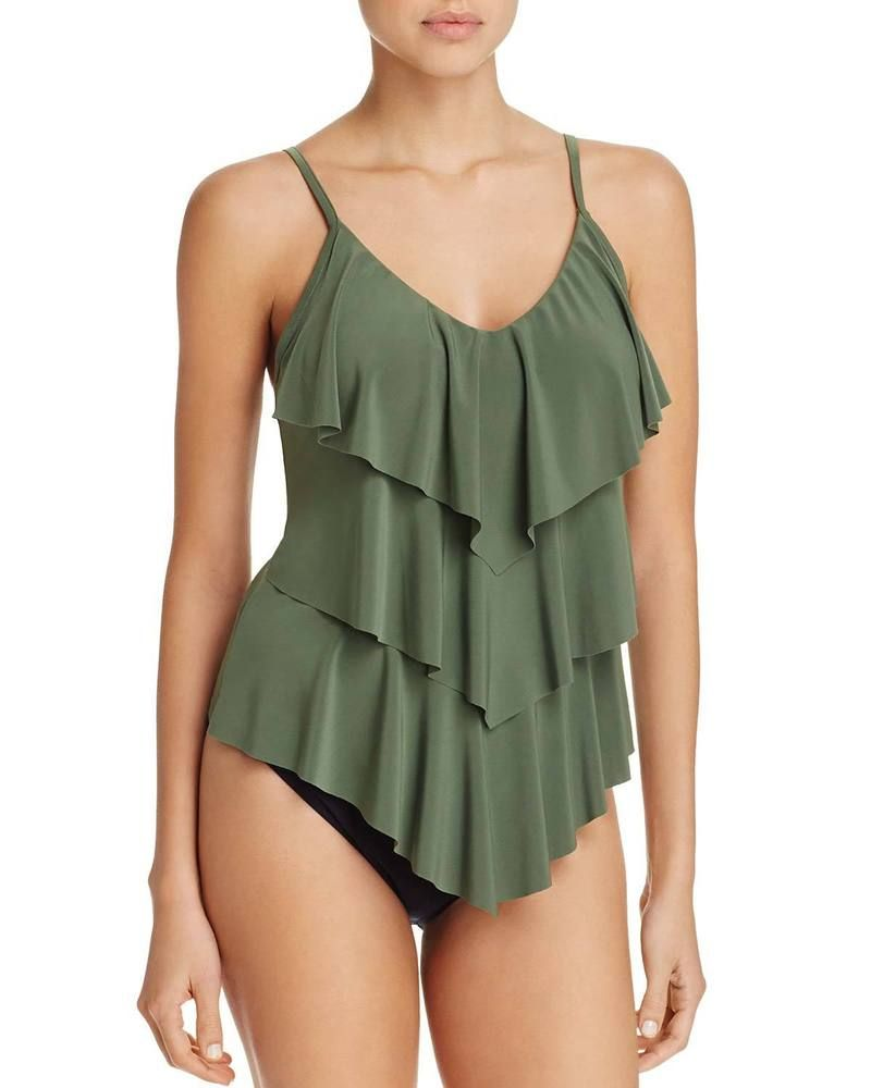 837c45a5c2243 Magicsuit by Miraclesuit Womens Rita Tiered Tankini Top 10 Olive Green  Swimsuit #fashion #clothing #shoes #accessories #womensclothing #swimwear  (ebay link)