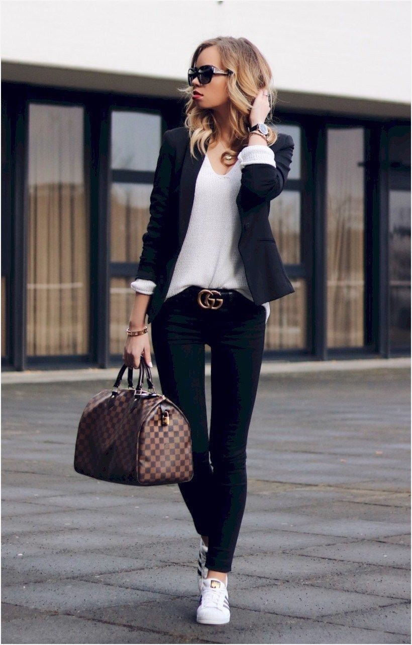 cbe4e811b4b 30 Beautiful Office Outfit Ideas With Sneakers