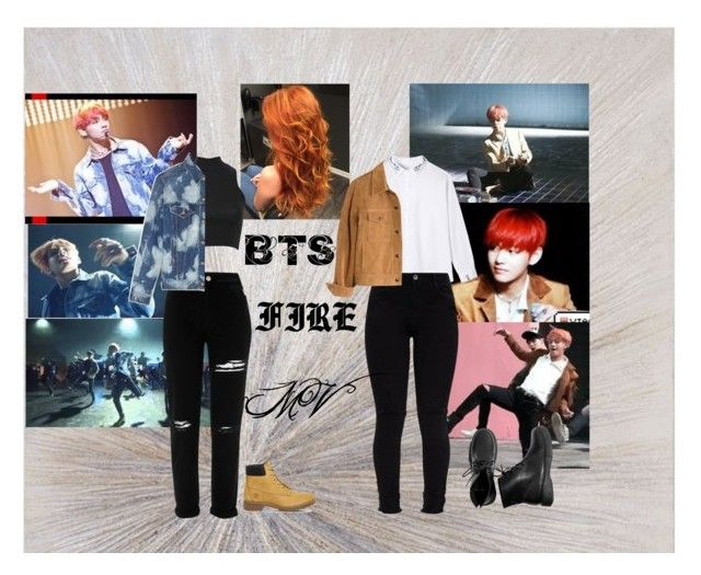 """""""BTS Fire M/V Taehyung inspired outfit"""" by maeko-ng711 ❤ liked on Polyvore featuring Pilot, River Island, Yves Saint Laurent, Madewell, Timberland, Fire, bts and taehyung"""