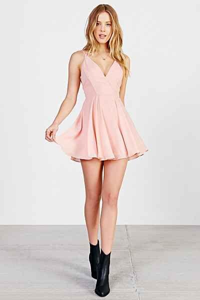 Sparkle Fade Strappy Chiffon Skater Dress Vestidos Vestidos
