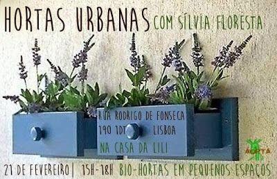 Oficina de Hortas Urbanas   com Sílvia floresta 21 de Fevereiro 2015 15h-18h 