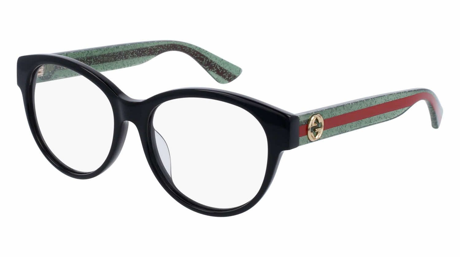 b158a3e354 Chic stripe Gucci GG0039OA - Alternate Fit Eyeglasses | 50% Off Lenses and  Add-Ons! + | Prescription designer frame, Price Match Guarantee