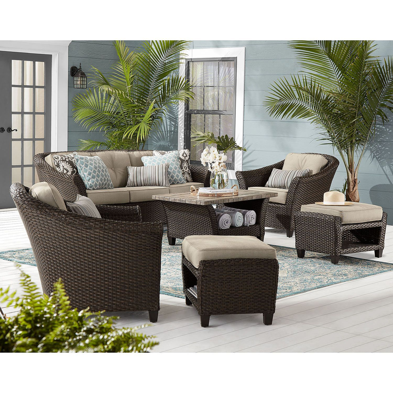 Member S Mark Agio Collection Toronto Seating Set Sam S Club Outdoor Furniture Sets Outdoor Furniture Inspiration Outdoor Furniture