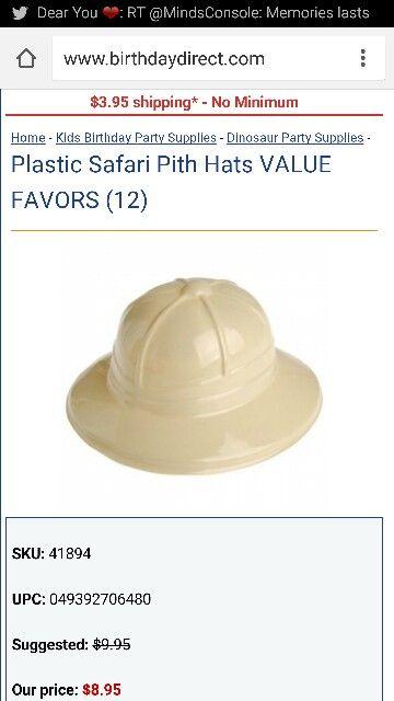 Safari hats 12pk