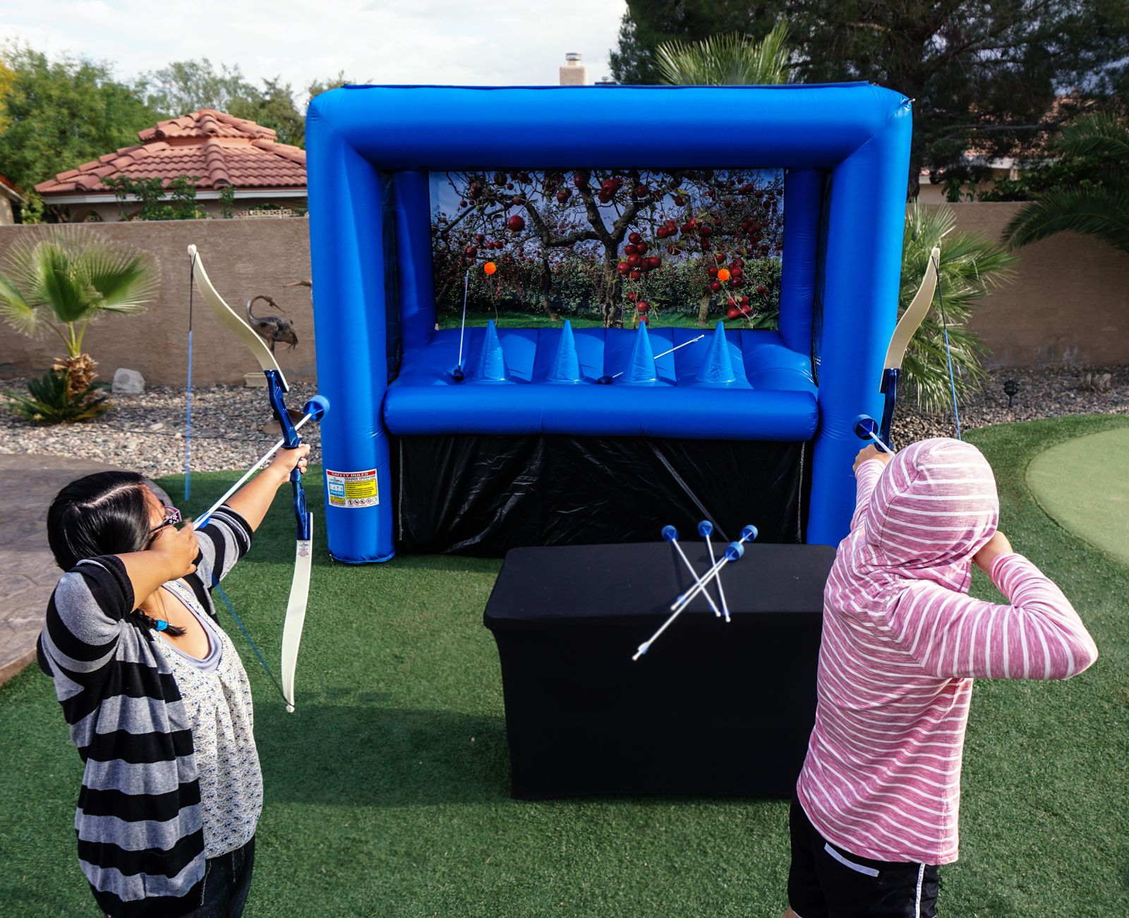 Archery hover ball games with safe sponge arrows for party