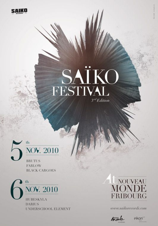 Saiko Festival by Maria Sedykh, via Behance