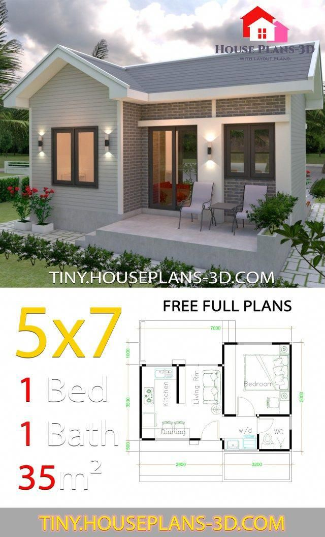Homedesign Small House Design Plans One Bedroom House Plans 1 Bedroom House Plans