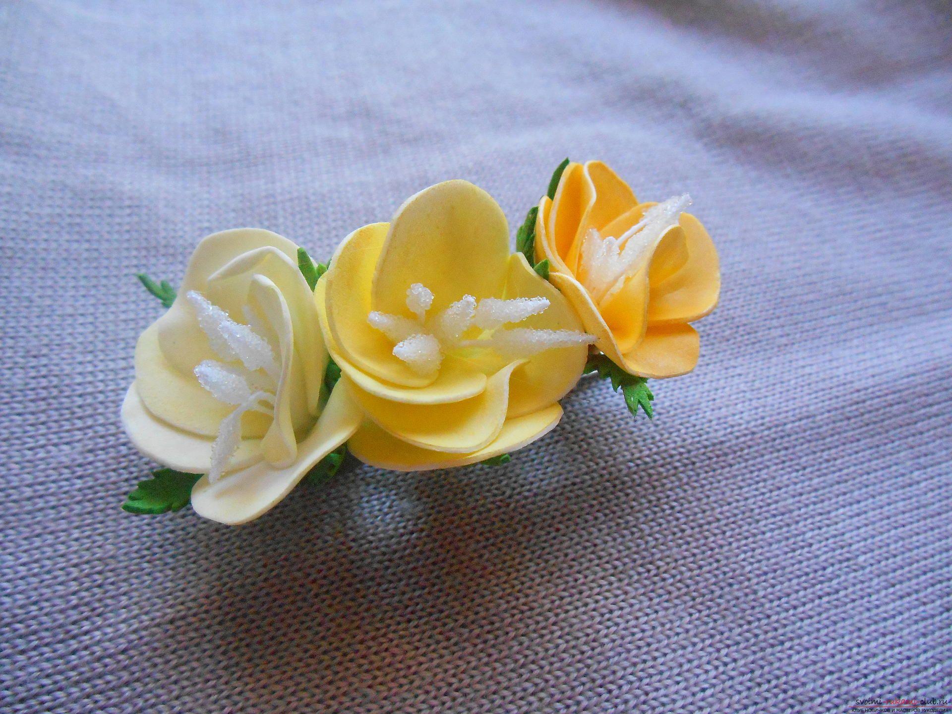 Сделать заколки цветы своими руками