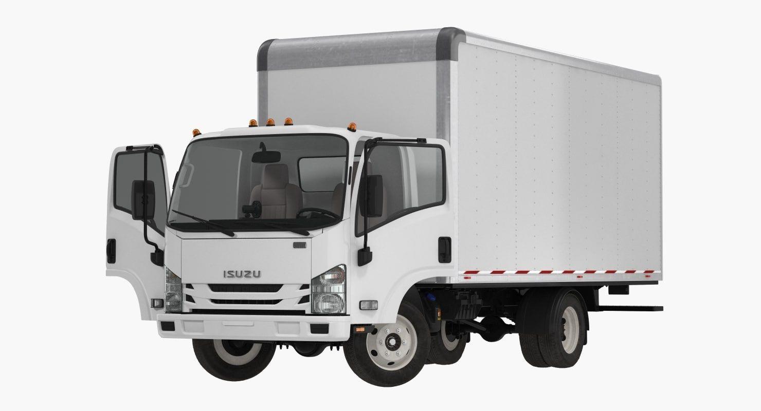 Box Truck Isuzu Npr 3d Trucks Transportation Vehicles