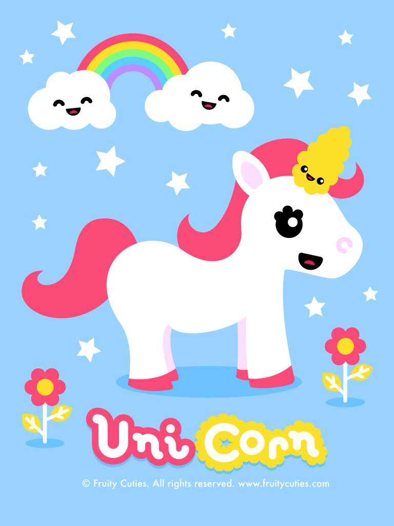Fruity Cuties Unicorn Wallpaper iPad wallpaper Epic