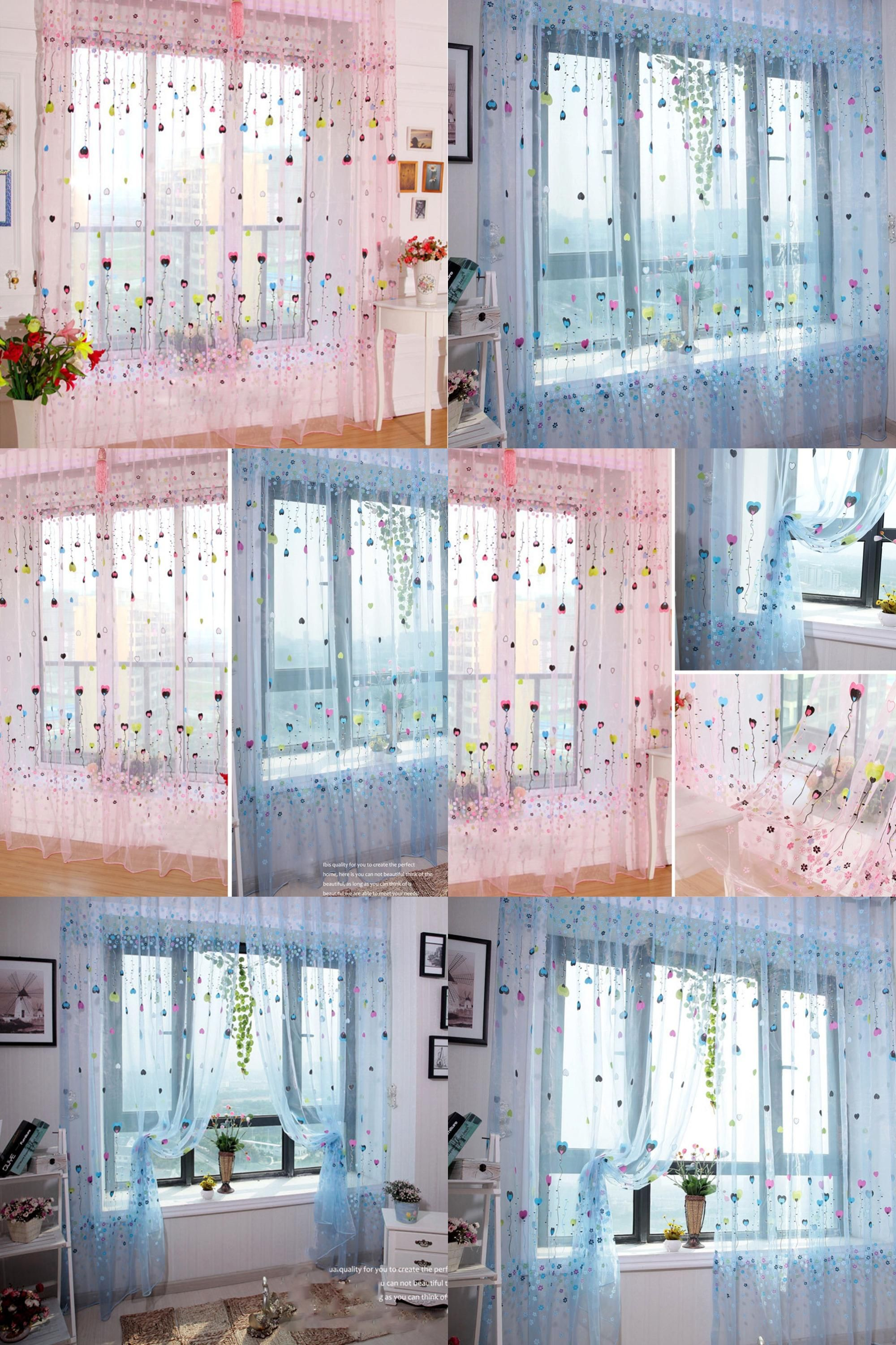 Visit to buy fashion door window curtain drape panel balloon sheer