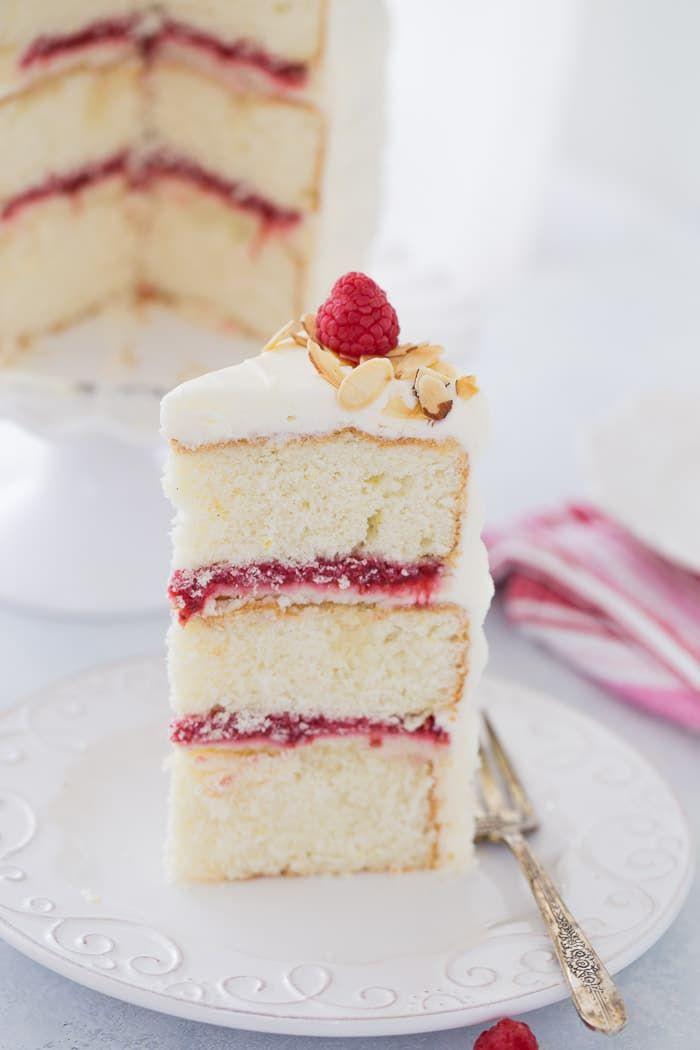 Lemon Raspberry Cake With Honey Mascarpone Filling And Cream