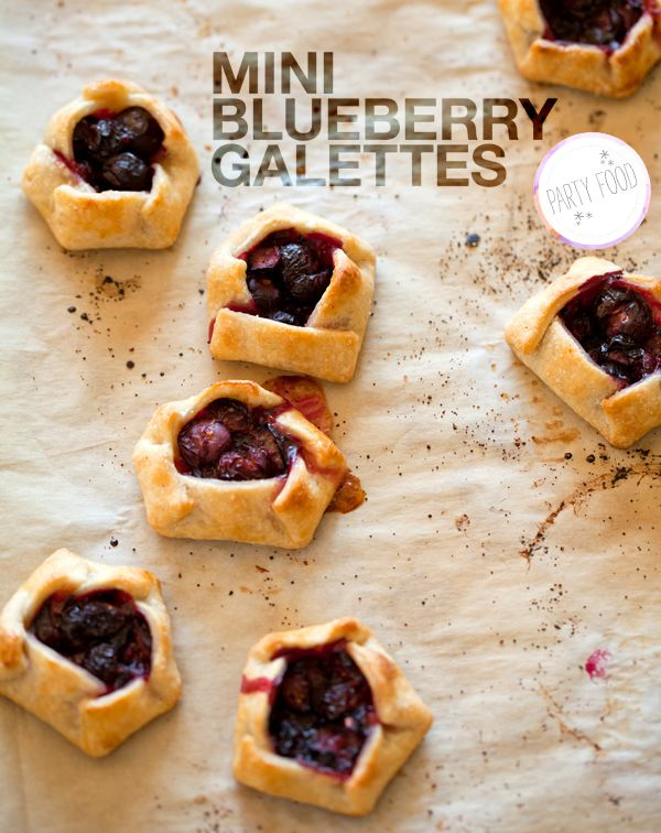 Best galettes recipe ever! Make them in a mini muffin tin, they'll turn out perfect! Delicious - you can substitute any berry for the blueberries.