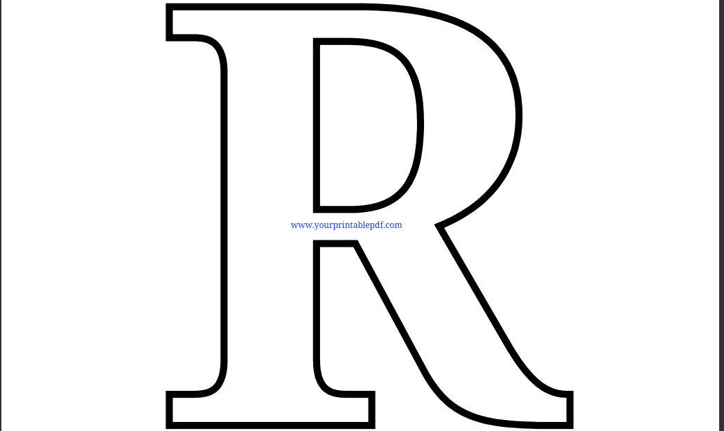 letter r printable coloring pages - photo#29