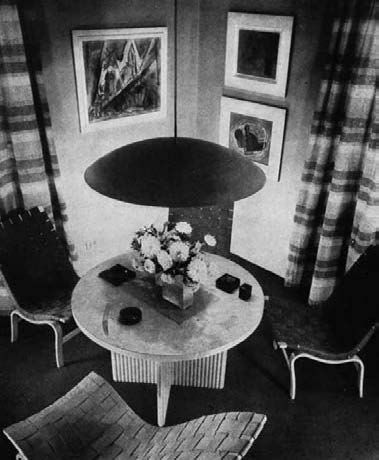 An interior in Philip Goodwin's New York apartment ...