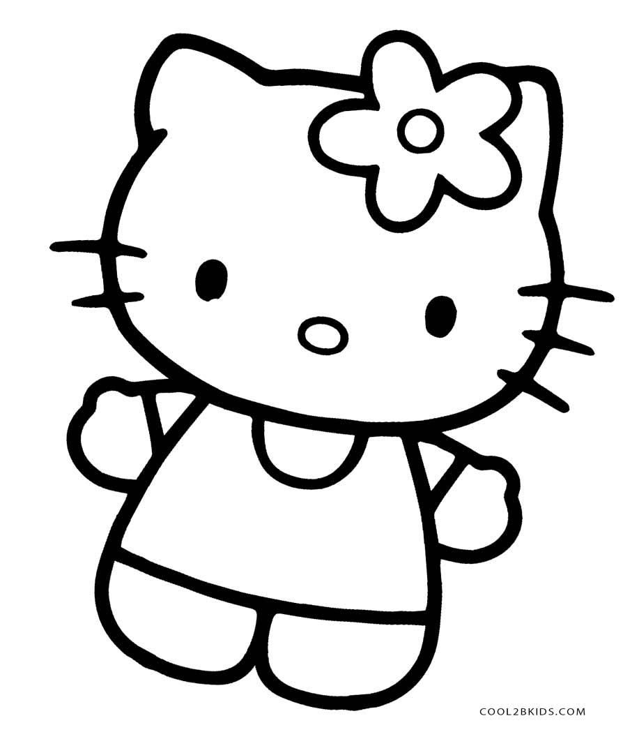 Coloring Page Hello Kitty #halloweencoloringpages