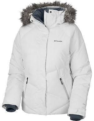 11526d5248d Columbia Womens Lay  D  Omni Heat Down Hooded Winter Coat- White ...