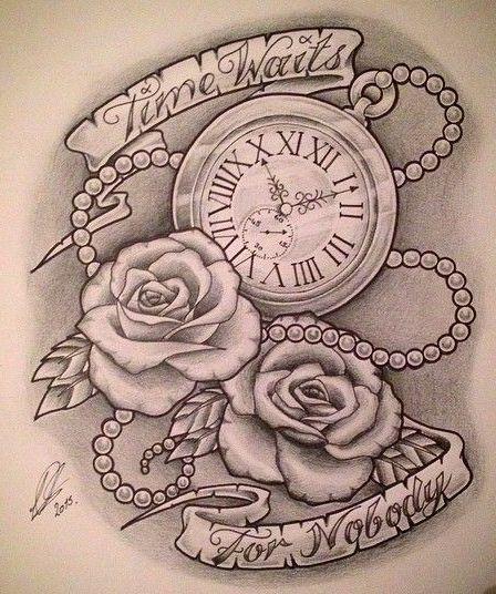Time Waits For Nobody Pocket Watch By At Leepawleytattooartist Via