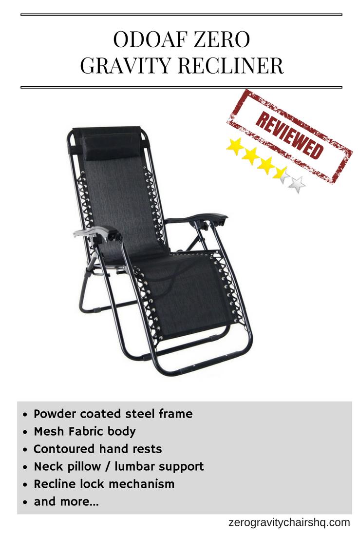Review odoaf zero gravity recliner powder coated steel frame