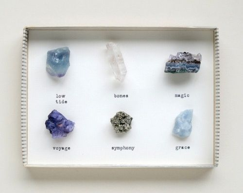 Set of 12 Beautiful Natural Small Mineral Stones Comes In Box Collectible Stones