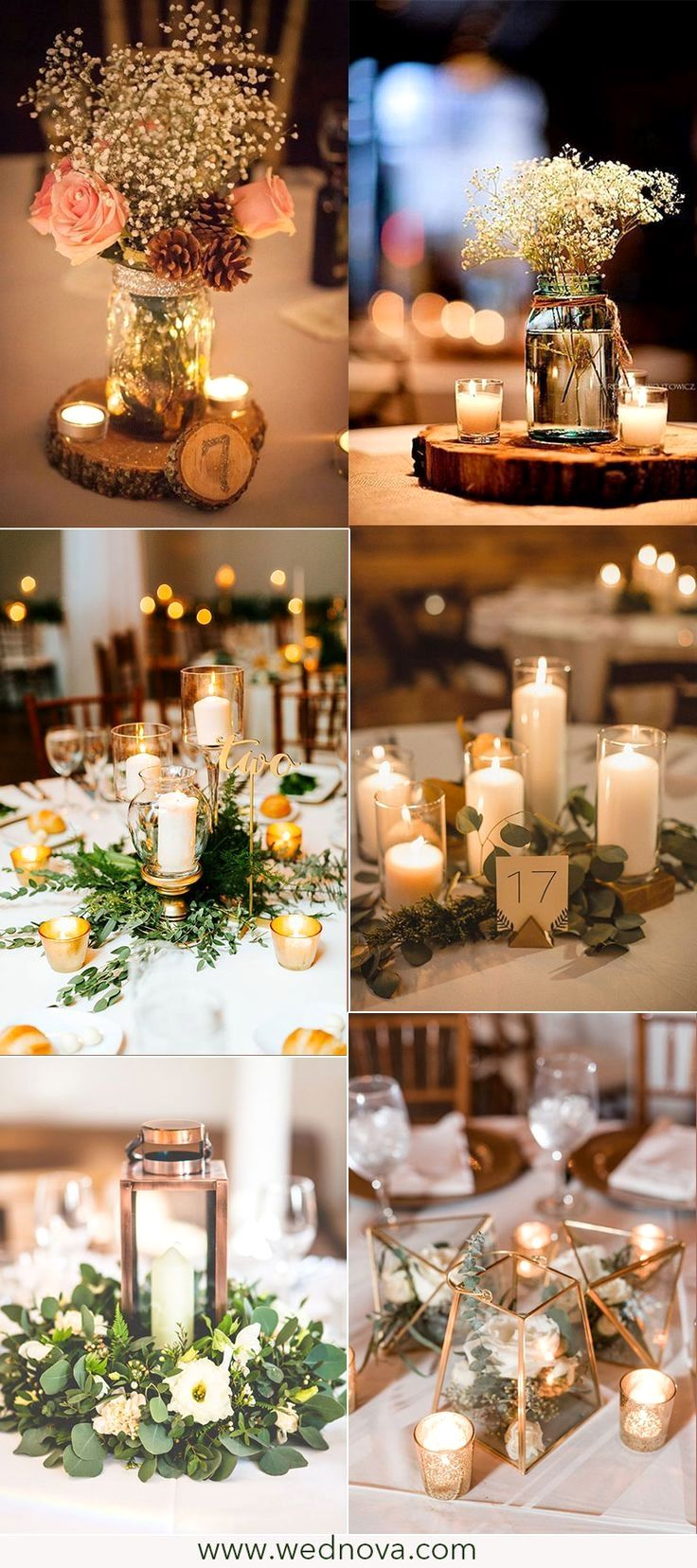 New Rustic Wedding Decoration Ideas Rustic With Images Vintage Wedding Centerpieces Greenery Wedding Decor Wedding Table Decorations