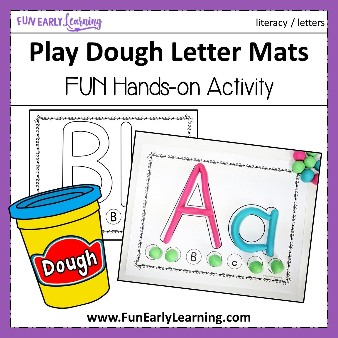 Play Dough Letter Mats