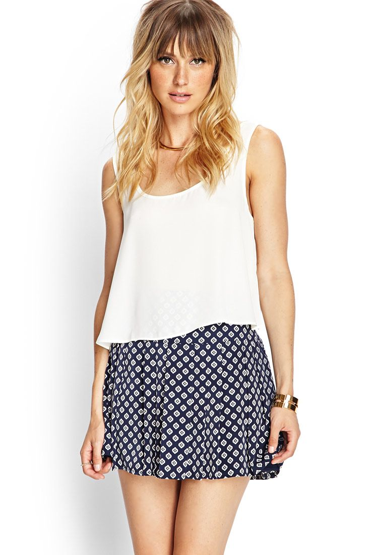 Pleated Woven Miniskirt | FOREVER21 #F21Contemporary