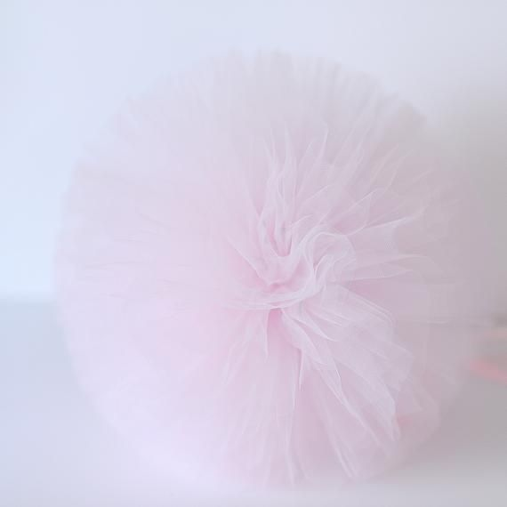 Pale pink tulle pom poms | tutu party decor | large tulle balls