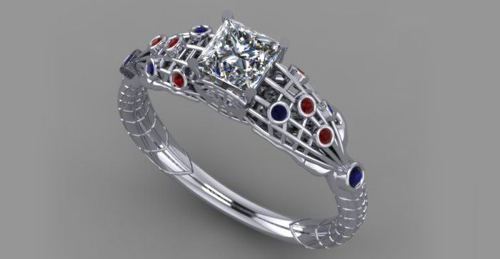 Photo Credit Takayas Spiderman inspired engagement ring If i ever
