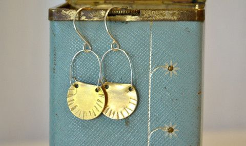 Salvage Moon Pie earrings - Victoire Boutique