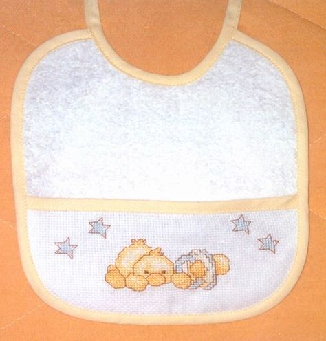 Patrones Punto De Cruz Gratis Baberos Imagui Cross Stitch Baby Cross Stitch For Kids Cross Stitch Magazines