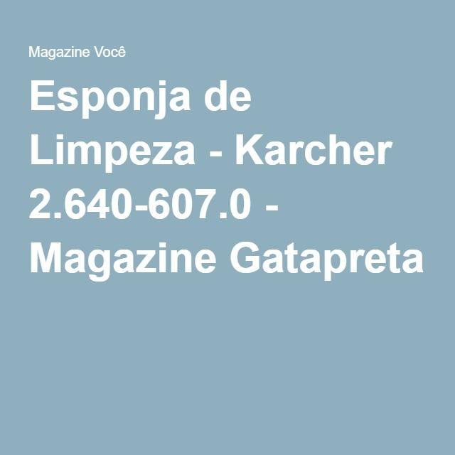 Esponja de Limpeza - Karcher 2.640-607.0 - Magazine Gatapreta