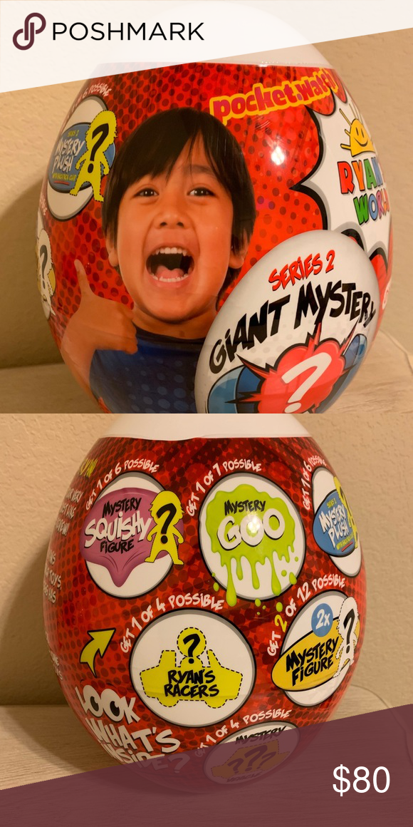 Ryan's World Giant Mystery WHITE Egg Series 2 Figure Target Exclusive RARE