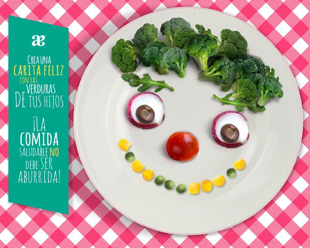 Sé creativa al momento de preparar los #alimentos de tus pequeños, incluye #frutas y #verduras de una manera #divertida.