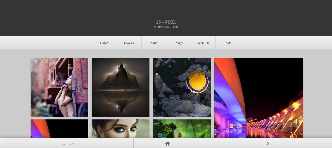 25 pixel | FreeTemplates24. Great portfolio / gallery blogger ...