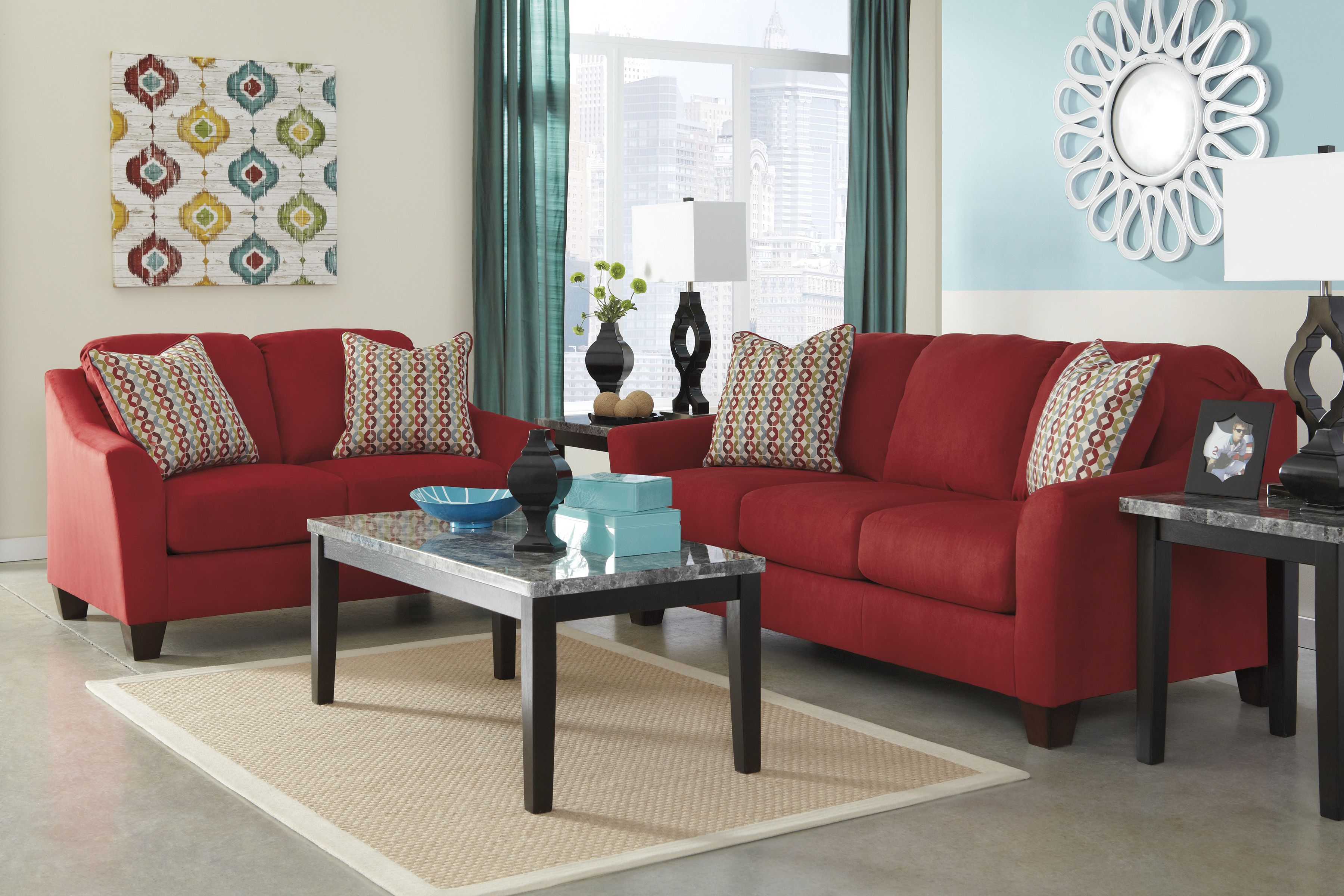 from living coleman sw set ashley room sets furniture red tensas htm livings
