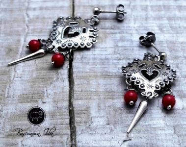 Kolczyki Parzenice Z Koralem Baziunowa Izba 4316118072 Oficjalne Archiwum Allegro Belly Button Rings Brooch Jewelry