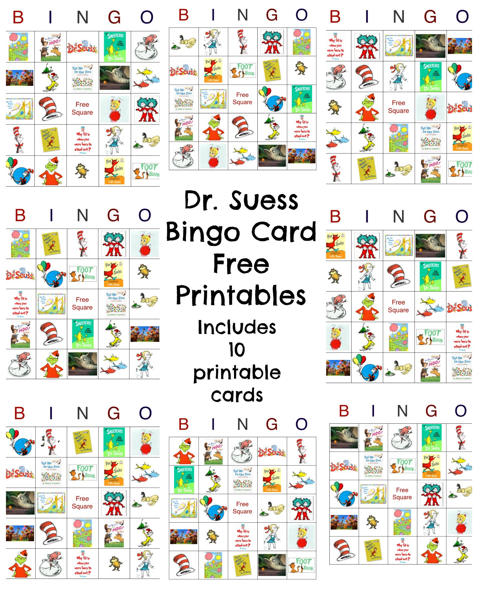 dr seuss bingo game free printable activities and