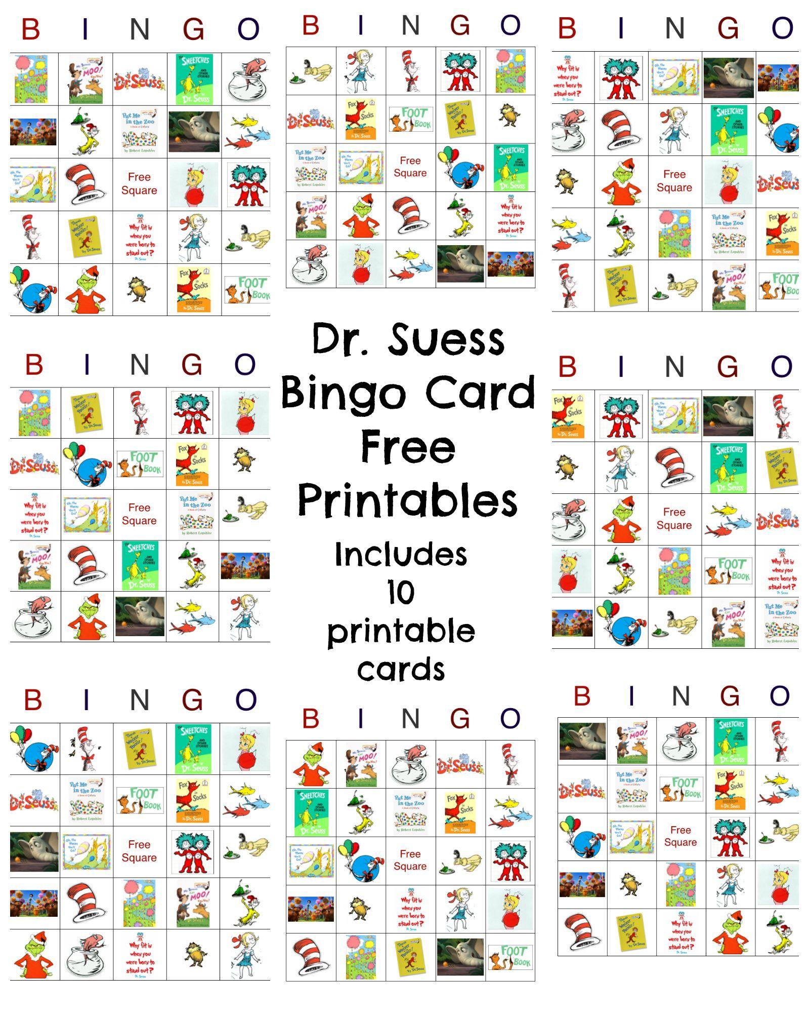 Happy Birthday Dr Seuss Dr Seuss Free Bingo Printable