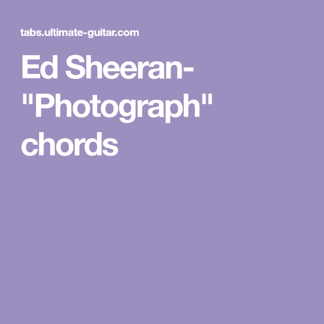 Outstanding Photograph Chord Illustration - Beginner Guitar Piano ...