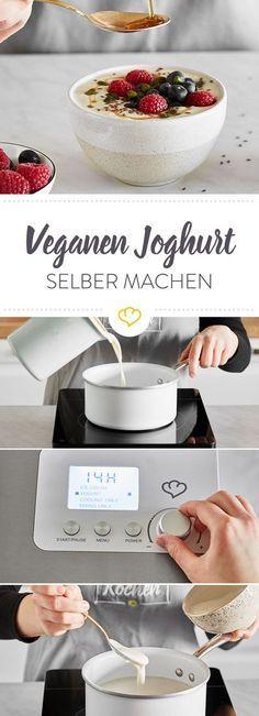 Veganer Joghurt: So gelingt er dir mit und ohne Maschine