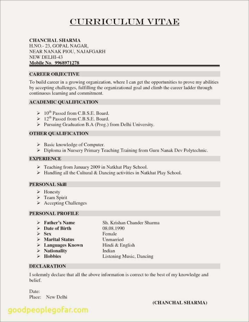 Academic Resume Sample 2019 Academic Cv Samples 2020 Teacher