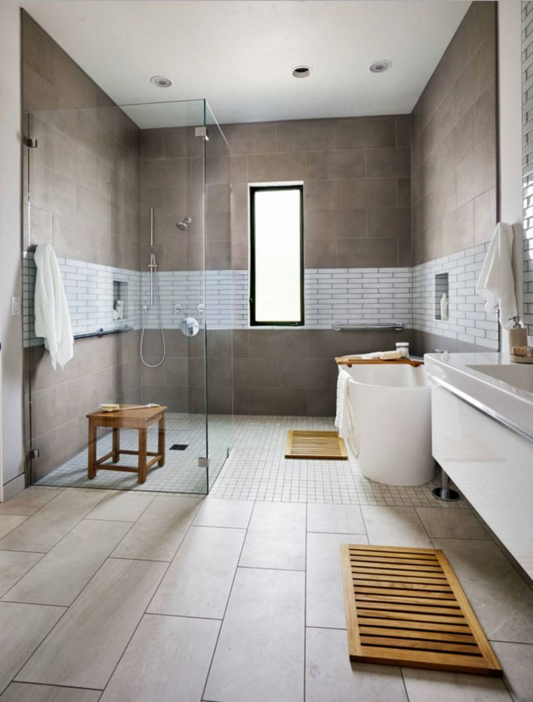 toques de madera en el baño moderno Design inspiration Pinterest - Design Bathroom